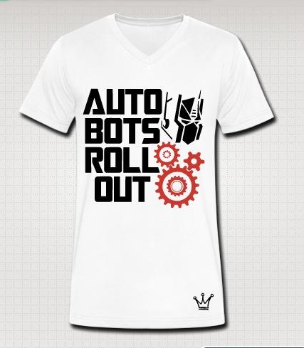 autobots vneck white