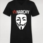 anarchy vneck t-shirt black