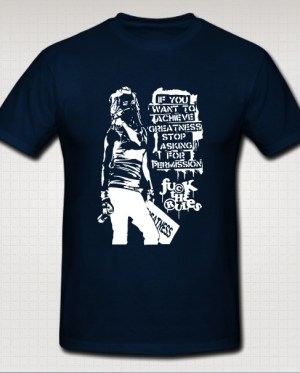 fuck the rules dark blue t-shirt
