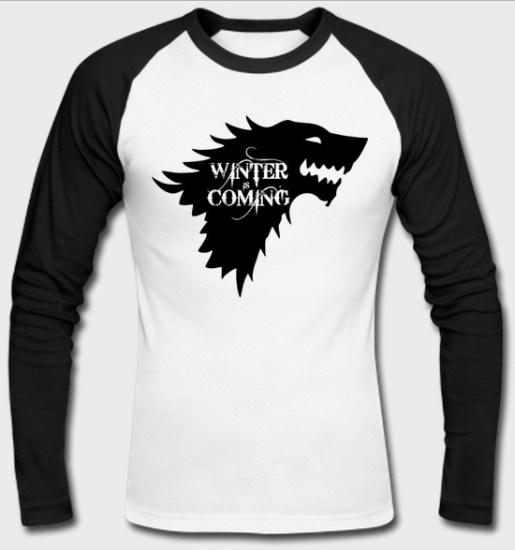 game of thrones raglan full sleeves tshirt