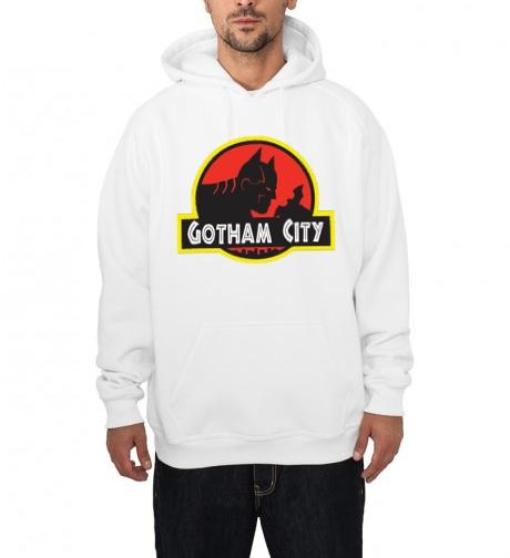 batman gotham city white hoodie
