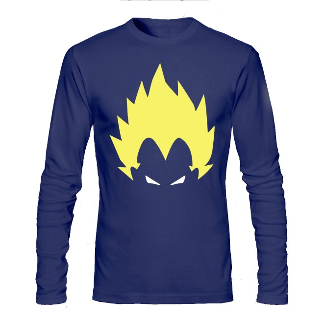 vegeta navy blue full sleeve tee