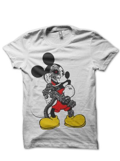 Badass Mickey Tee White