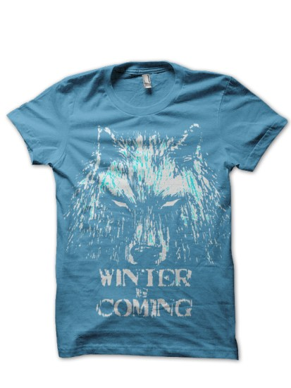 winter is coming sky blue tee