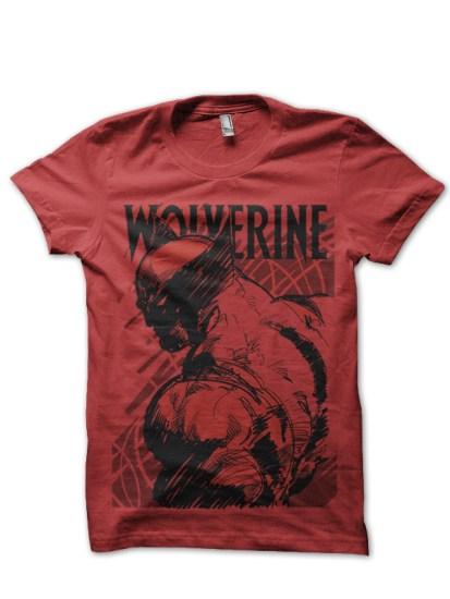 red wolverine tee