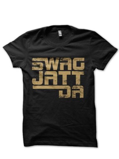 Jatt Swag Black Tee