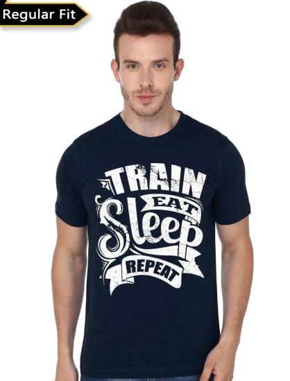 train navy blue tshirt