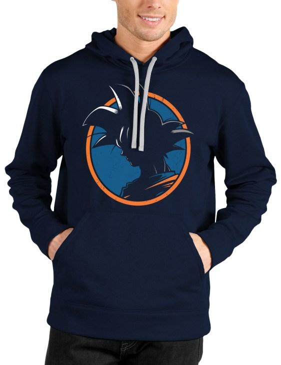 goku navy blue hooded sweatshirt