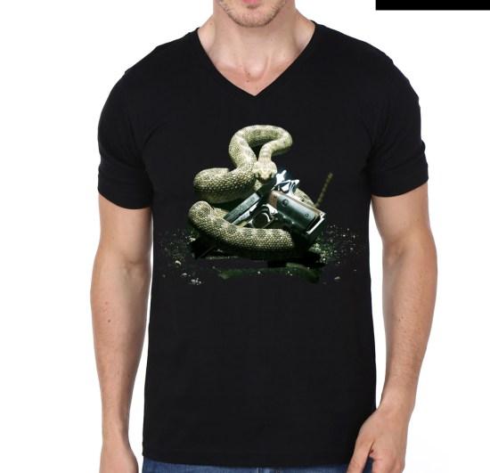 snake vneck model