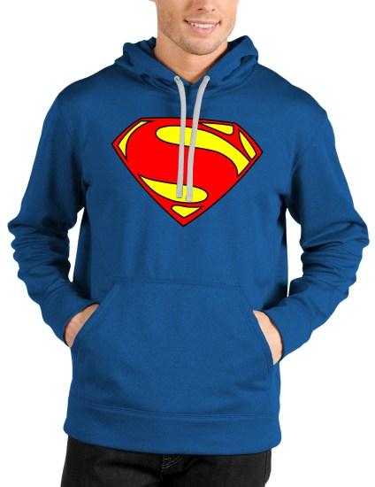 superman blue hoodie