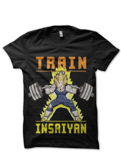train insaiyna black tee