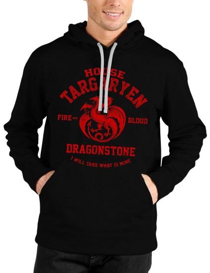 house targaryen black hoodie
