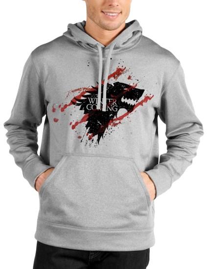 winter grey hoodie