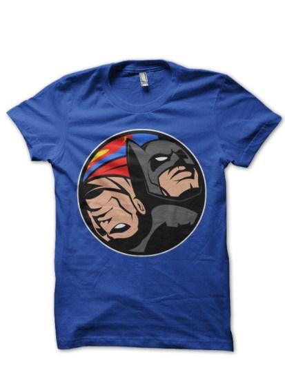 batman vs superman blue tee
