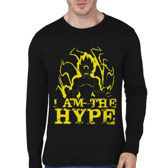 hype black full sleeve tee