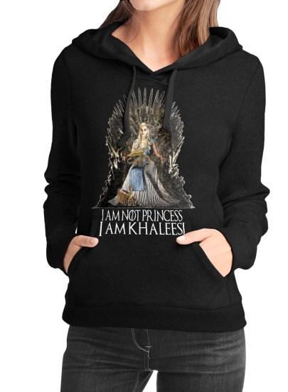 khaleeesi black girls hoodie