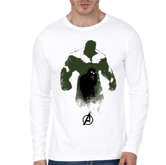 hulk white full sleeve te