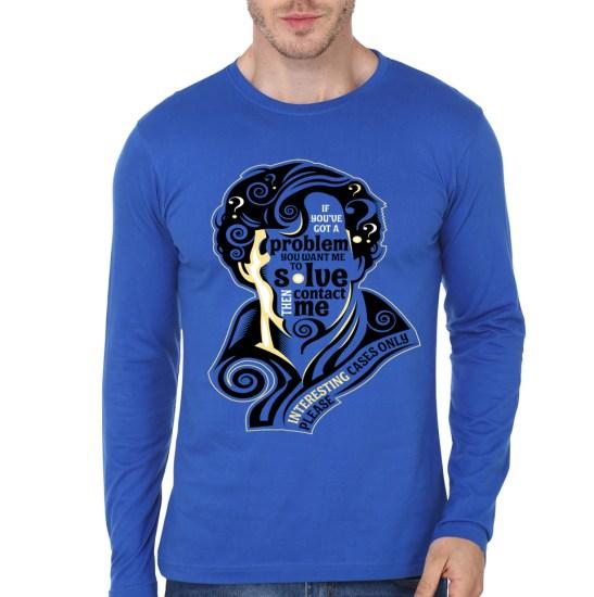 sherlock blue full sleeve tee