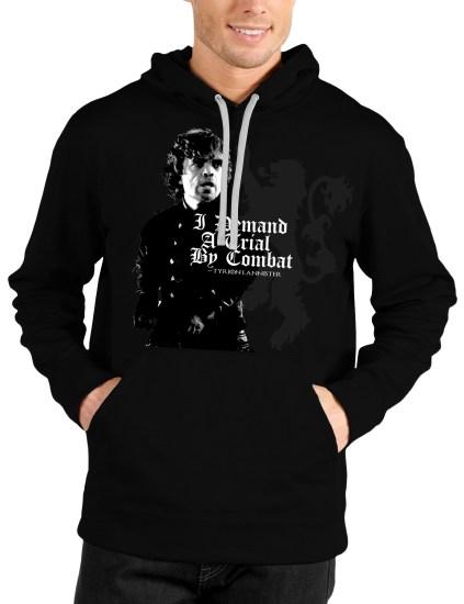 trial by combat black hoodie
