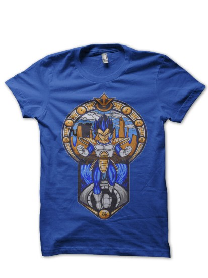 vegeta royal blue tee