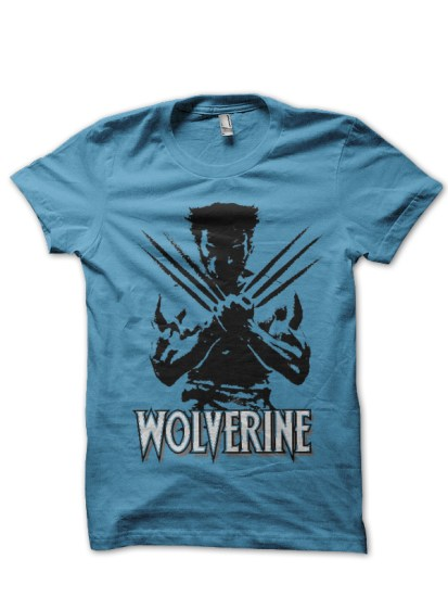 wolverine light blue tee