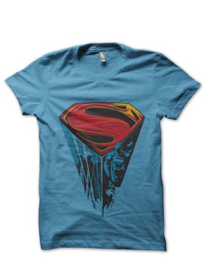 superman light blue tee