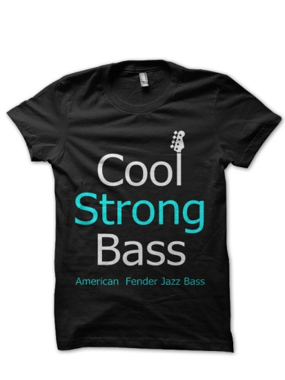 strong bass black party t-shirt