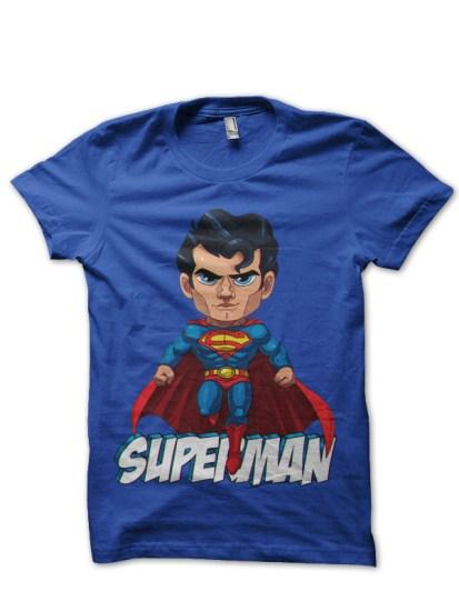 superman royal blue tee