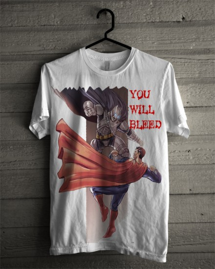 you will bleed white tee