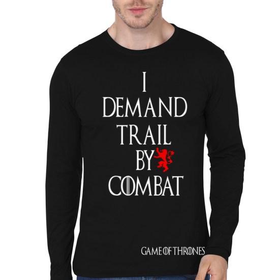 train by combat full sleeve tee