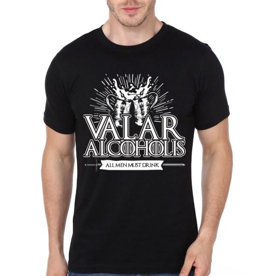 valar alcoholics black t-shirt