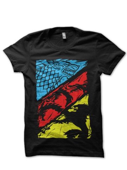 greatest houses black t-shirt