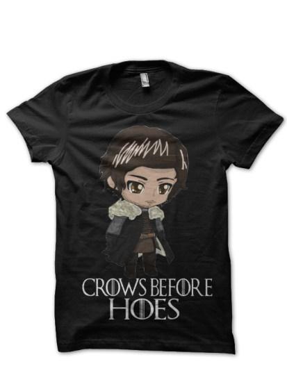 jon snow black t-shirt