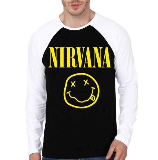 nirvana raglan t-shirt