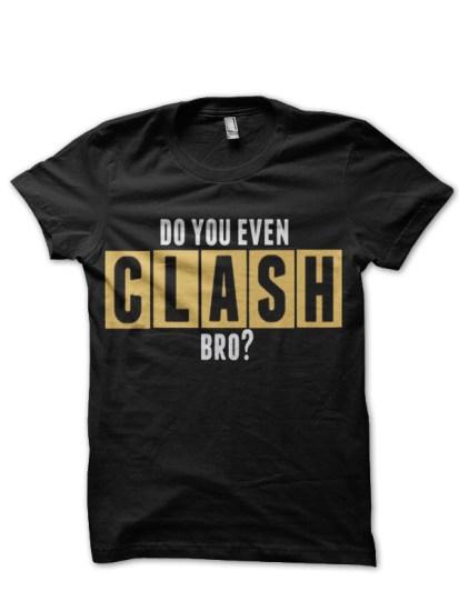clash black t-shirt
