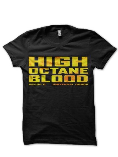 flamaable blood black tee