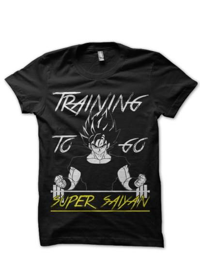 goku training black t-shirt
