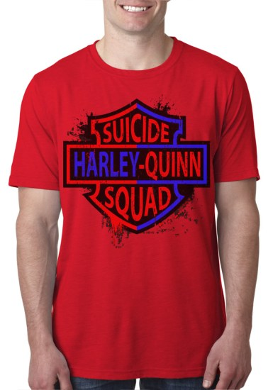 harley red mens tee