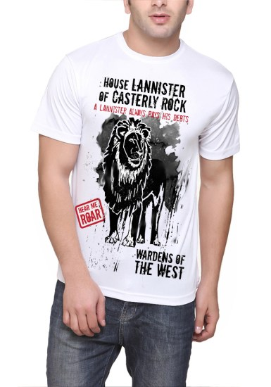 house lannister white tee
