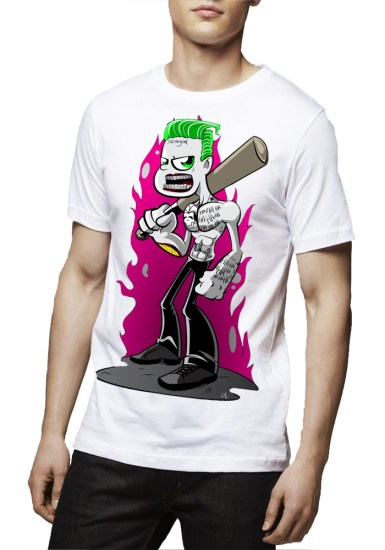 leto joker white t-shirt