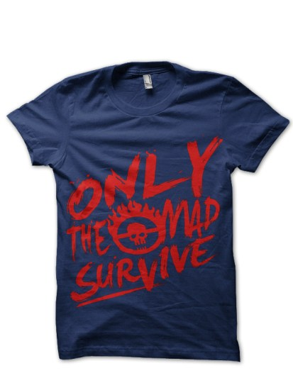 mad max survival navy tee