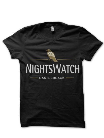 nights watch black t-shirt