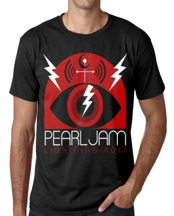pearl jam black bolt t-shirt