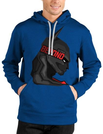 batman beyond royal blue hoodie