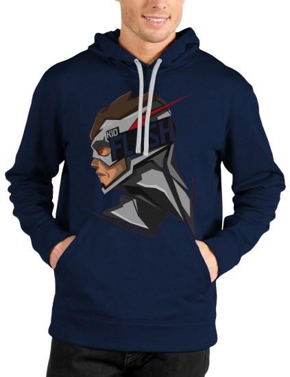 flash navy blue hoodie