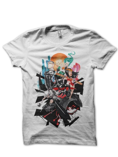 justice league 4white tee