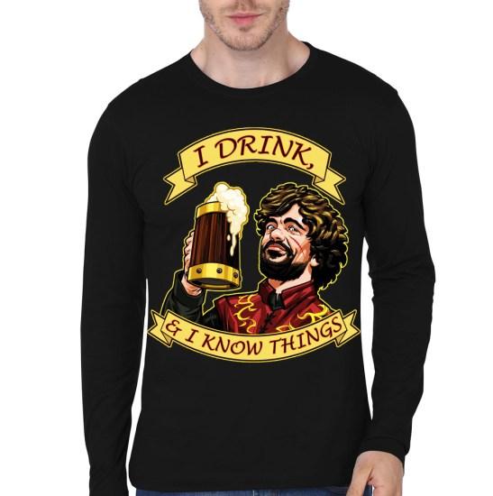 tyrion lannister black full sleeve tshirt