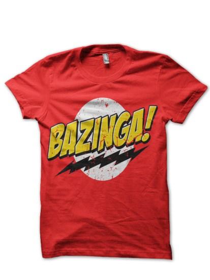 bazinga-red-tee