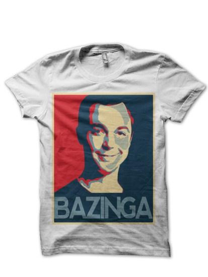 bazinga-white-tee
