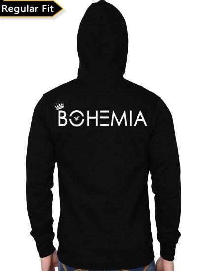 bohemia black hoodie back 1